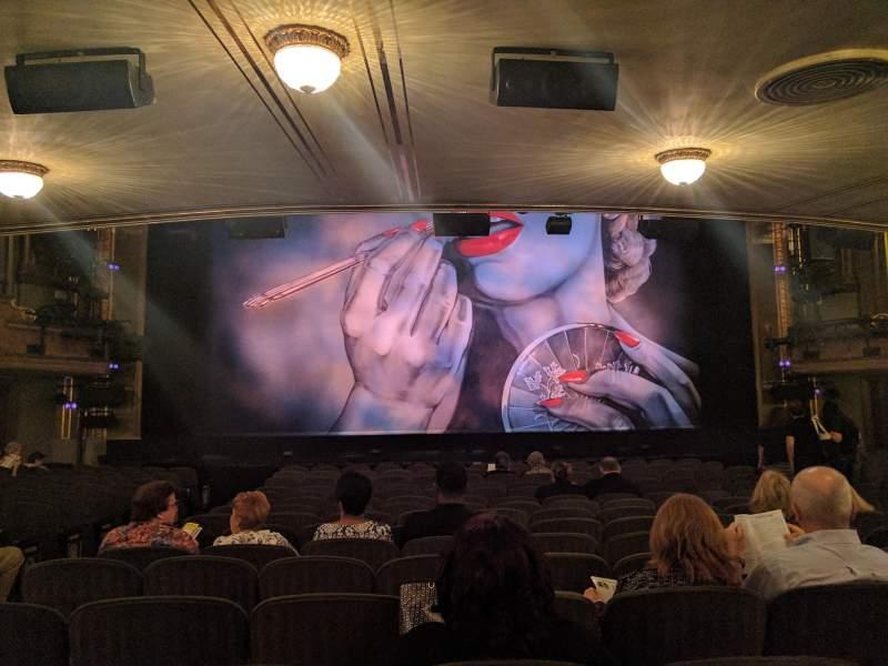 Vistas desde el asiento para Nederlander Theatre Sección Orchestra Fila Q Asiento 112
