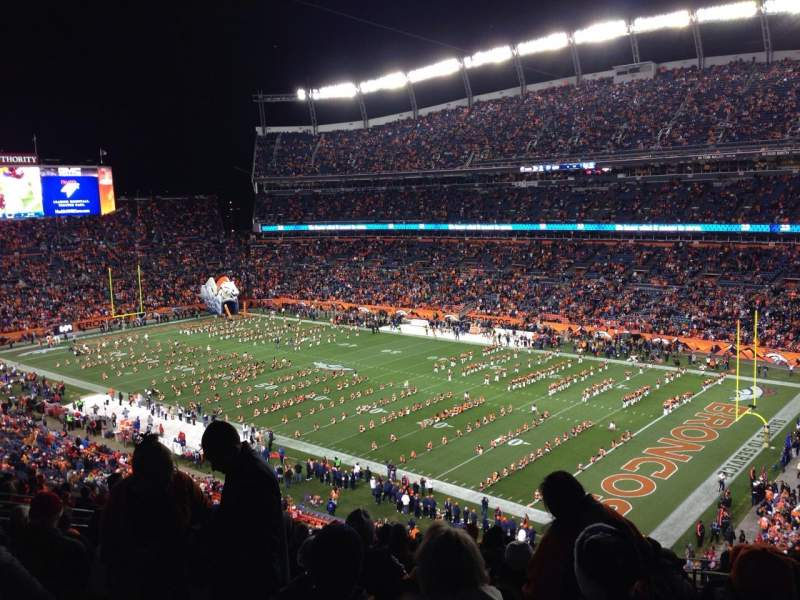 Vistas desde el asiento para Sports Authority Field at Mile High Sección 330 Fila 17 Asiento 4