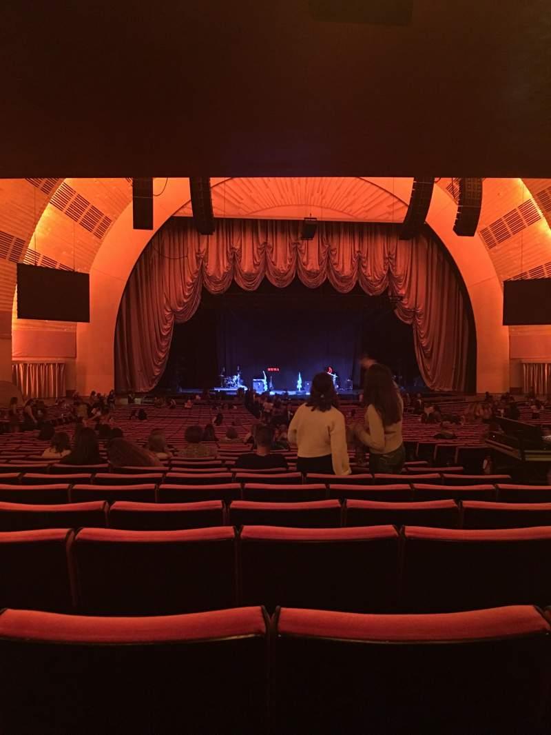 Radio City Music Hall, sección: ORCH 5, fila: T