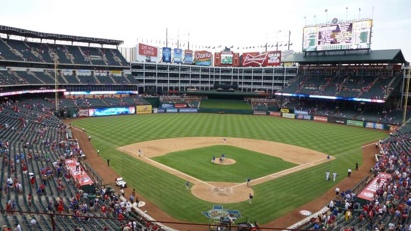Globe Life Park in Arlington, sección: Wandered behind home after the