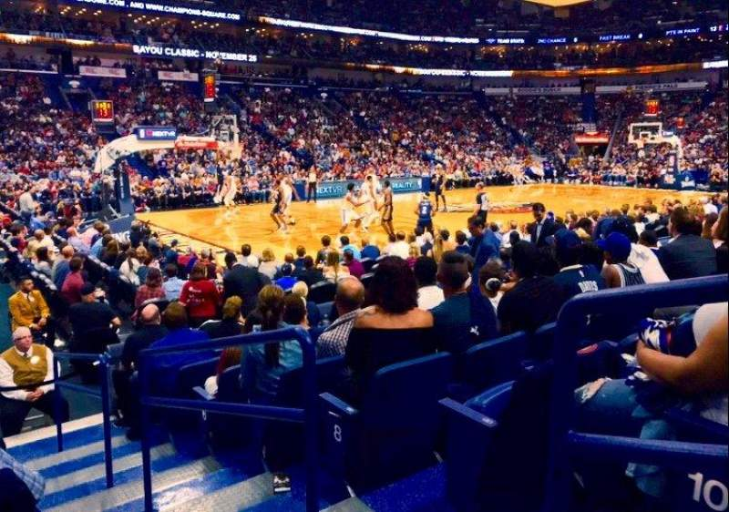 Smoothie King Center, sección: 103, fila: 11, asiento: 1