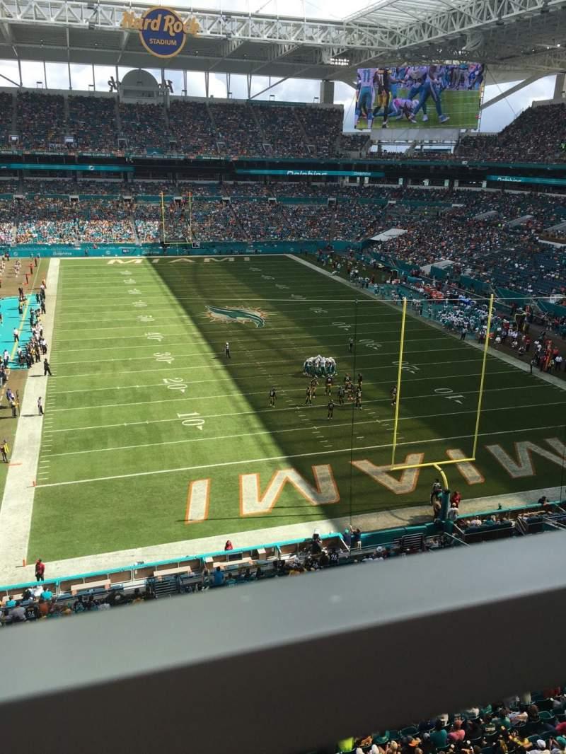 Vistas desde el asiento para Hard Rock Stadium Sección 306 Fila 1 Asiento 8