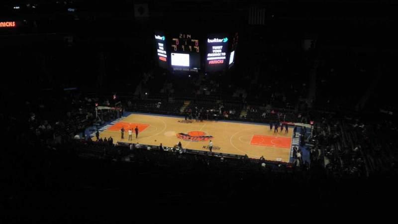 Vistas desde el asiento para Madison Square Garden Sección 412 Fila e Asiento 1