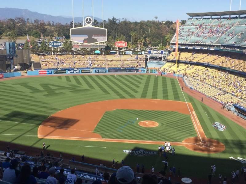 Vistas desde el asiento para Dodger Stadium Sección 11RS Fila O Asiento 8