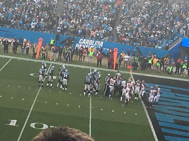 Bank of America Stadium , sección: 312, fila: 8, asiento: 17