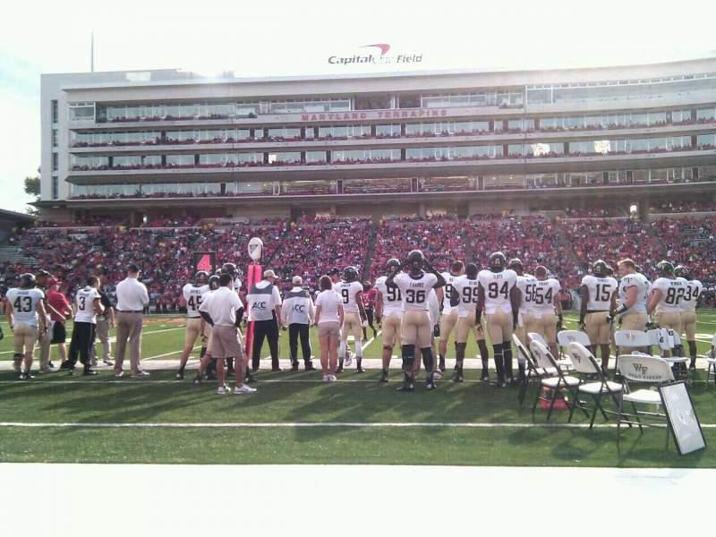 Maryland Stadium, sección: 6, fila: a, asiento: 17