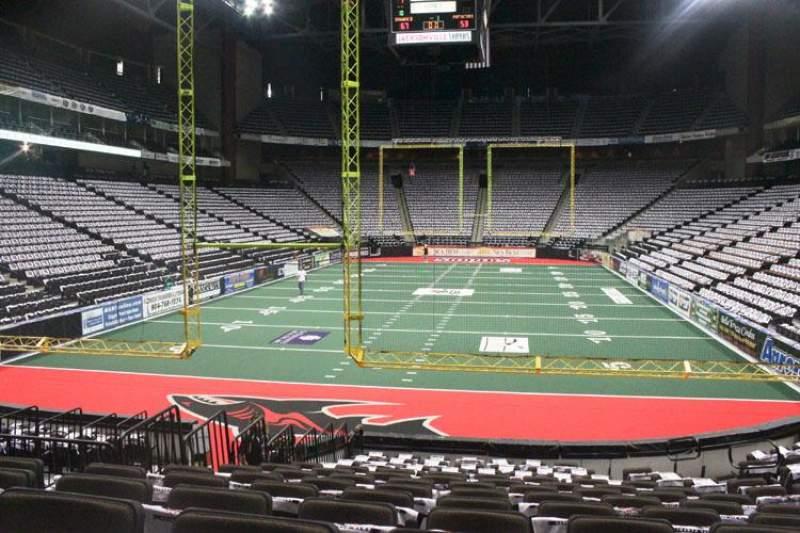 Vistas desde el asiento para Jacksonville Veterans Memorial Arena Sección 120 Fila N Asiento 7