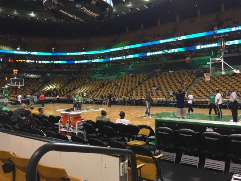 TD Garden, sección: Loge 21, fila: 3, asiento: 12
