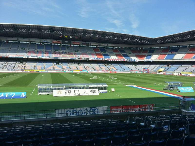 Vistas desde el asiento para Nissan Stadium (Yokohama) Sección Lower Stand Fila 12 Asiento 307