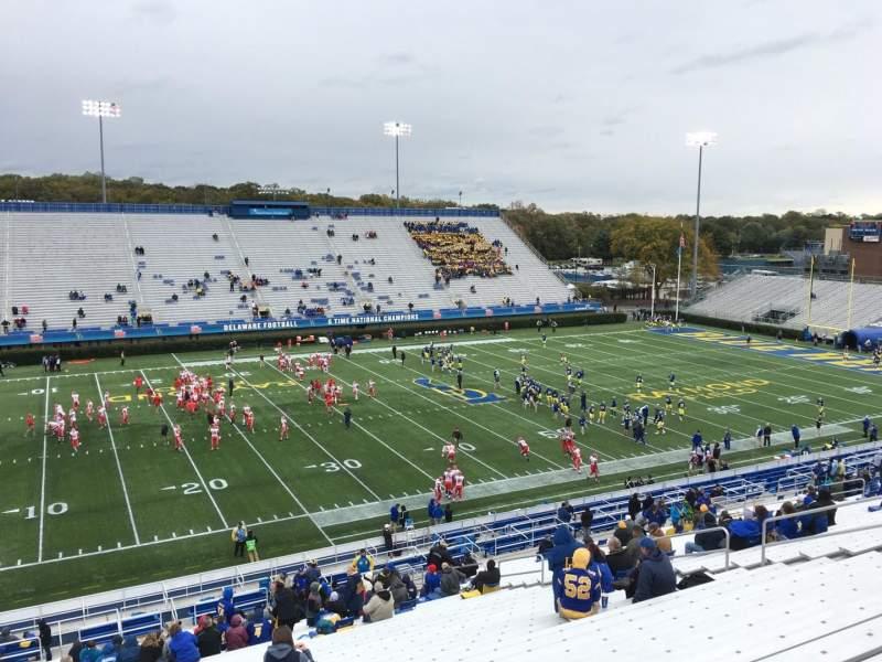 Vistas desde el asiento para Delaware Stadium Sección F Fila Ll Asiento 20