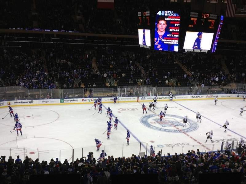 Vistas desde el asiento para Madison Square Garden Sección 209 Fila 4 Asiento 10