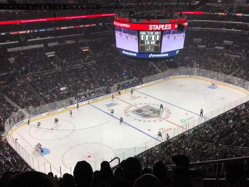 Staples Center, sección: 322, fila: 12, asiento: 6