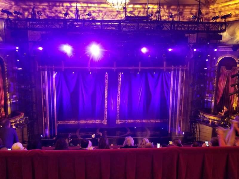 Vistas desde el asiento para Brooks Atkinson Theatre Sección Rear Mezzanine LC Fila E Asiento 115