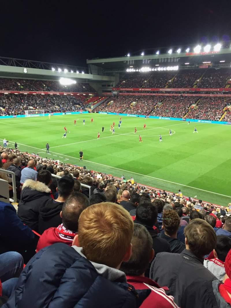 Vistas desde el asiento para Anfield Sección L16 Fila 36 Asiento 0215