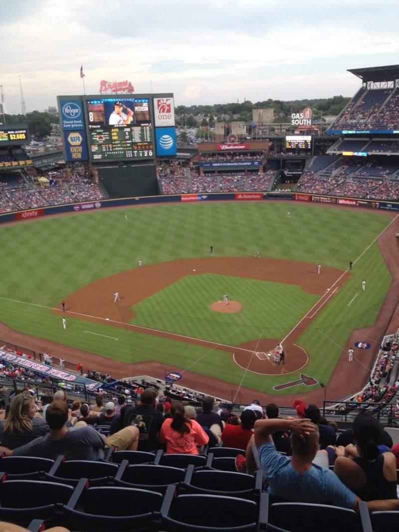 Turner Field, sección: 404, fila: 16, asiento: 108