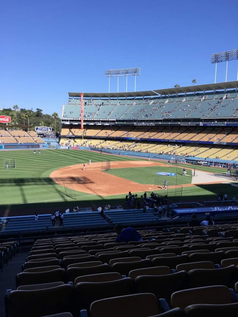 Vistas desde el asiento para Dodger Stadium Sección 143LG Fila N Asiento 8