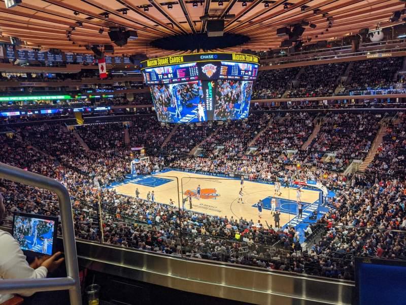 Vistas desde el asiento para Madison Square Garden Sección 214 Fila 2 Asiento 1