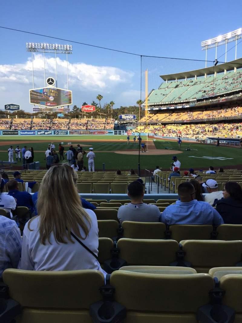 Dodger Stadium, sección: 9FD, fila: J, asiento: 5