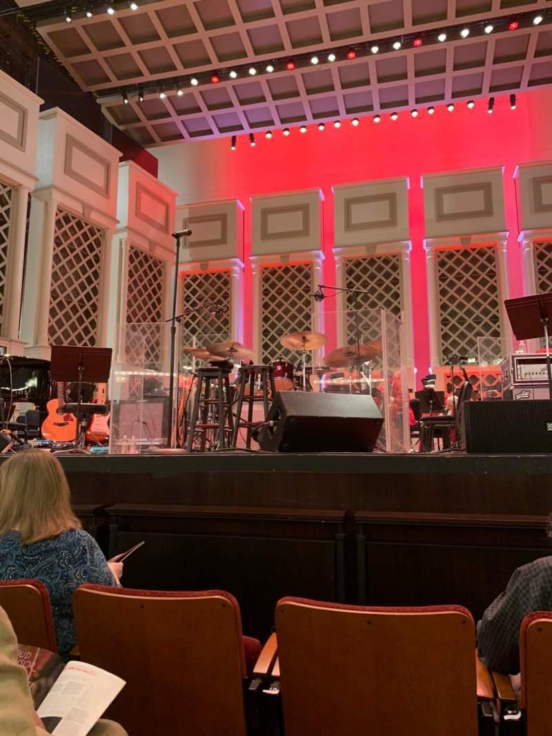 Vistas desde el asiento para Cincinnati Music Hall Sección ORCH Fila CC Asiento 201