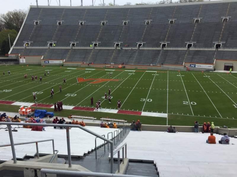 Lane Stadium, sección: 14, fila: SS, asiento: 6