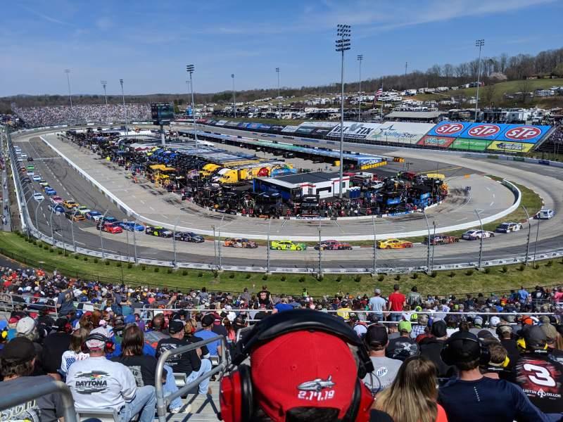 Vistas desde el asiento para Martinsville Speedway Sección EE Fila 38 Asiento 14