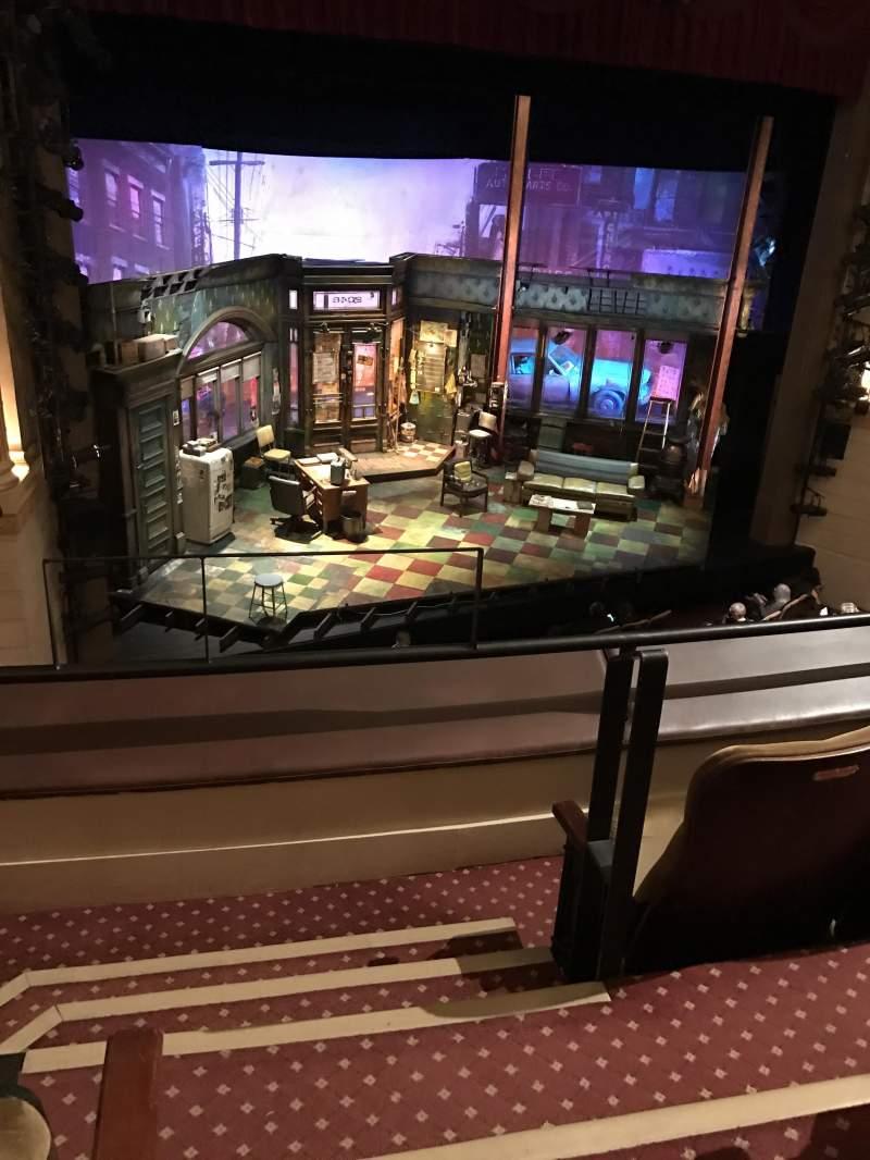 Vistas desde el asiento para Samuel J. Friedman Theatre Sección Mezzanine Fila A Asiento 1
