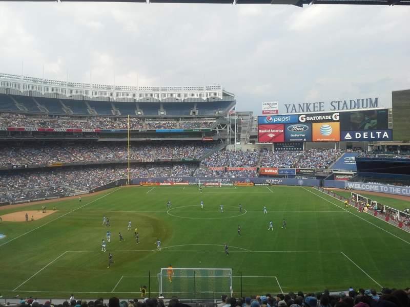 Vistas desde el asiento para Yankee Stadium Sección 213 Fila 20 Asiento 1