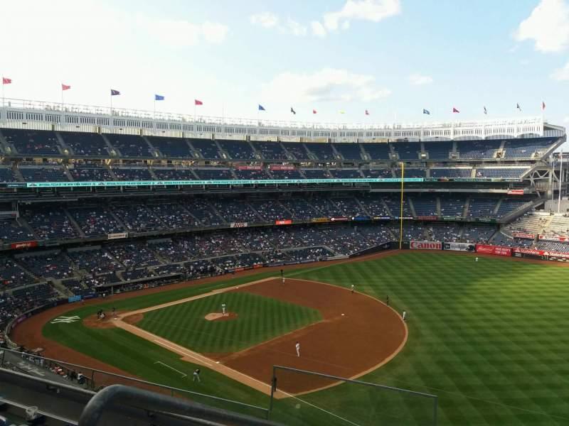 Vistas desde el asiento para Yankee Stadium Sección 312 Fila 4 Asiento 17