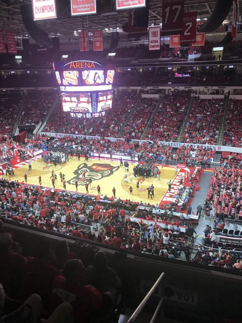 Vistas desde el asiento para PNC Arena Sección 201 Fila D Asiento 22