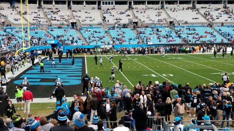 Bank of America Stadium, sección: 136, fila: 14, asiento: 2