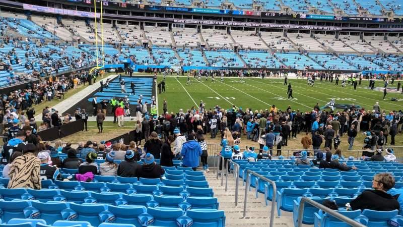 Bank of America Stadium, sección: 136, fila: 14, asiento: 1