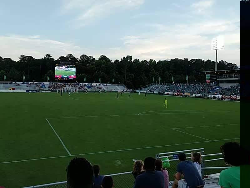 WakeMed Soccer Park, sección: 402, fila: h, asiento: 10