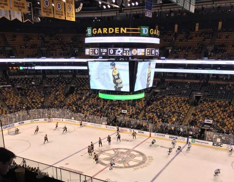 TD Garden, sección: BAL 314, fila: 3, asiento: 9