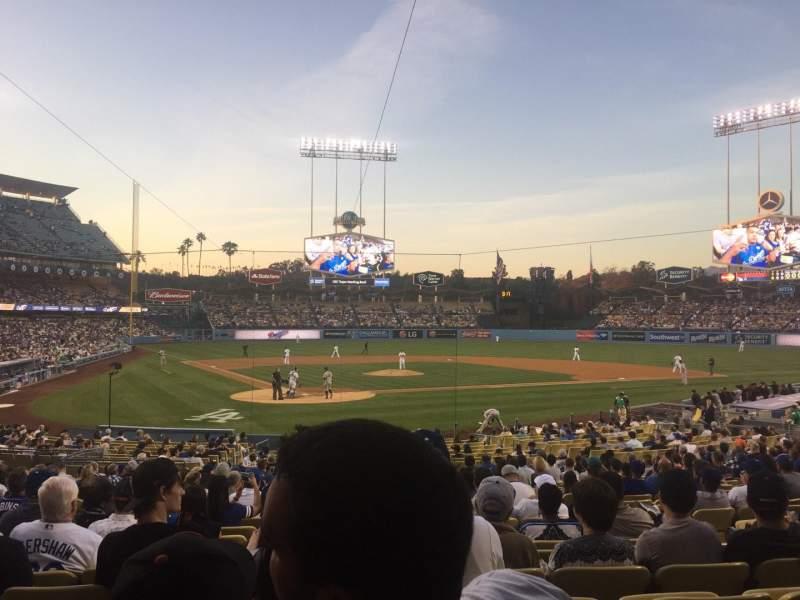 Vistas desde el asiento para Dodger Stadium Sección 6FD Fila U Asiento 8