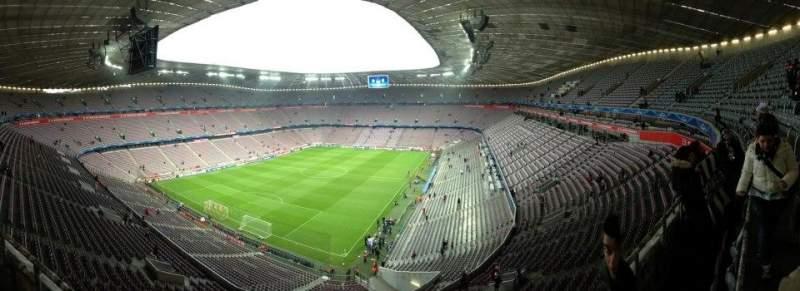 Vistas desde el asiento para Allianz Arena Sección 345 Fila 1