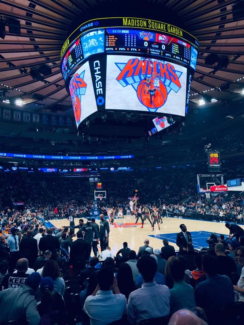Vistas desde el asiento para Madison Square Garden Sección 7 Fila 10 Asiento 1