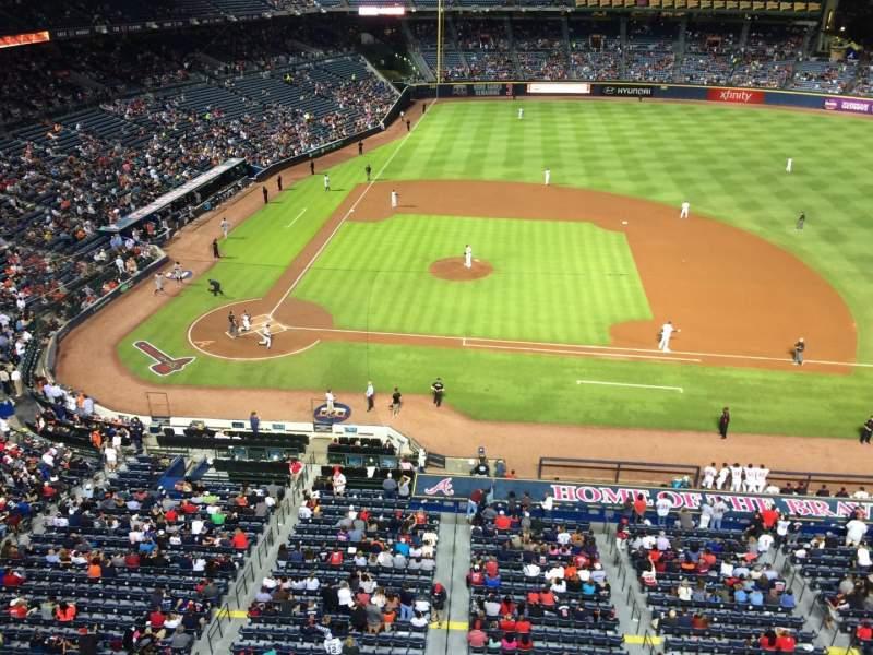 Turner Field, sección: 409R, fila: 1, asiento: 13