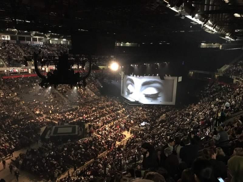 Vistas desde el asiento para Manchester Arena Sección 211 Fila M Asiento 20