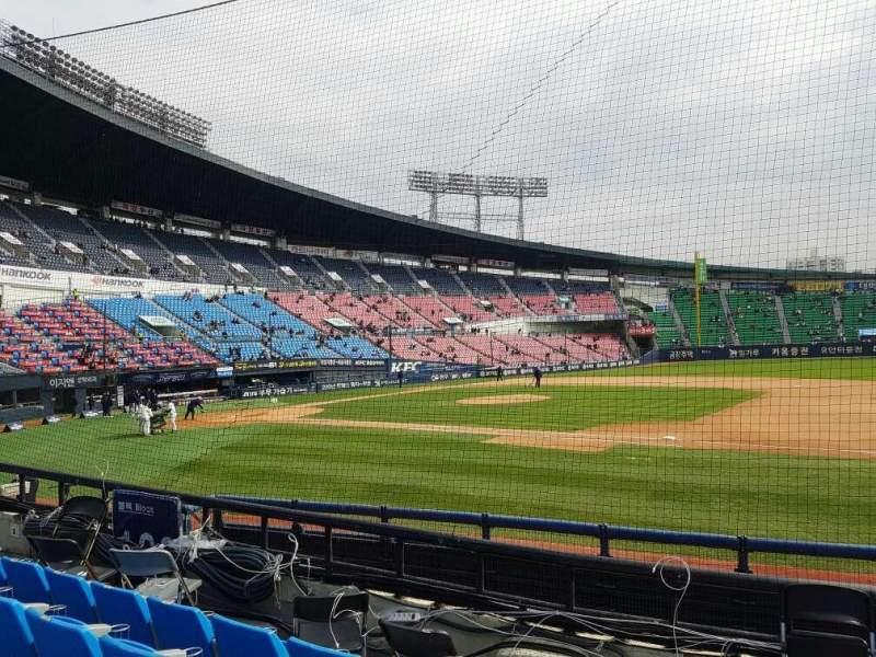 Vistas desde el asiento para Jamsil Baseball Stadium Sección 107 Fila 5 Asiento 73