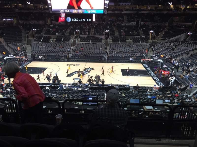 Vistas desde el asiento para AT&T Center Sección 107 Fila 32 Asiento 1and3