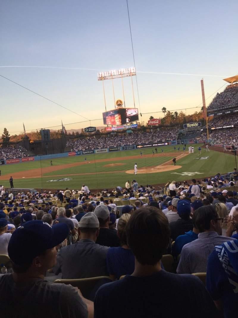 Vistas desde el asiento para Dodger Stadium Sección 5FD Fila U Asiento 12