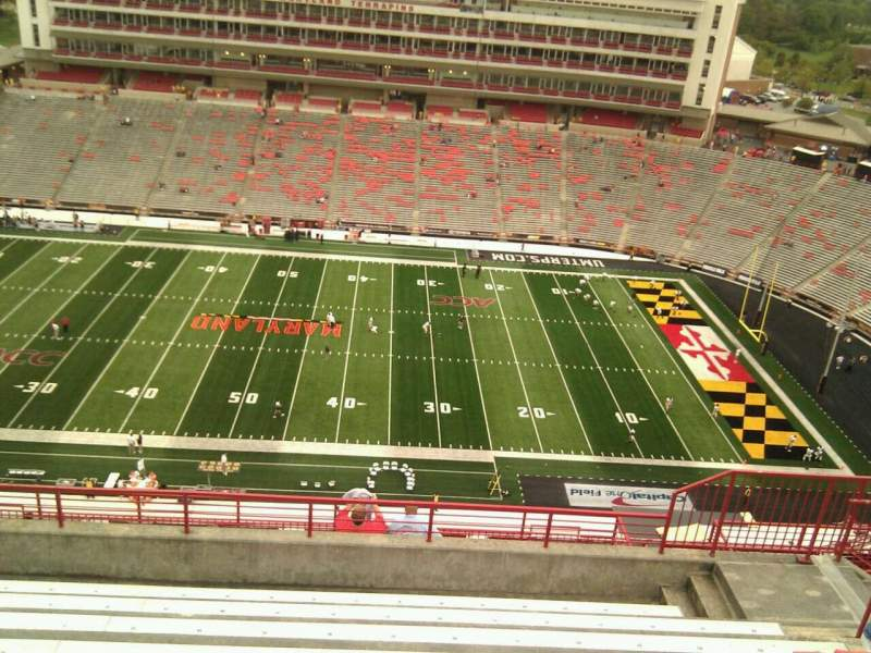 Maryland Stadium, sección: 307, fila: p, asiento: 17