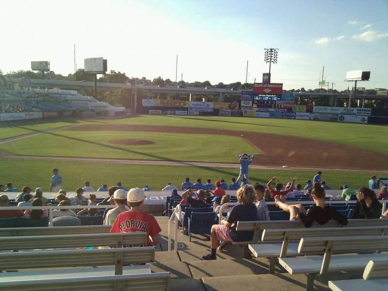 Frawley Stadium, sección: c, fila: 7, asiento: 1