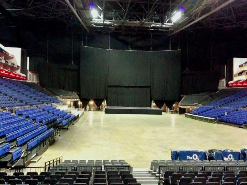 Vistas desde el asiento para The O2 Arena Sección 106 Fila k Asiento 174