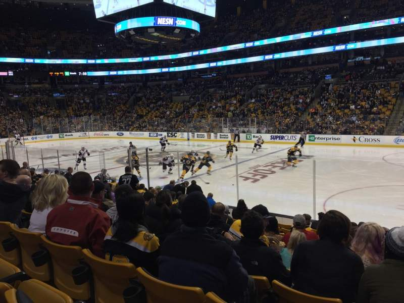 TD Garden, sección: Loge 21, fila: 12, asiento: 5