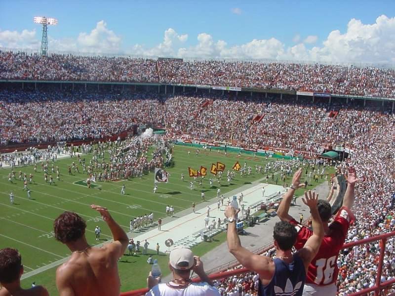 Vistas desde el asiento para Miami Orange Bowl