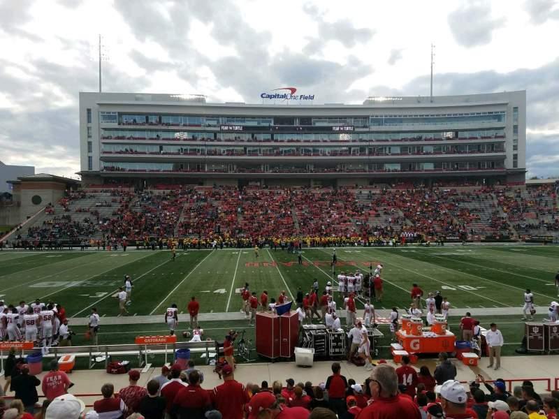 Maryland Stadium, sección: 5, fila: T, asiento: 7