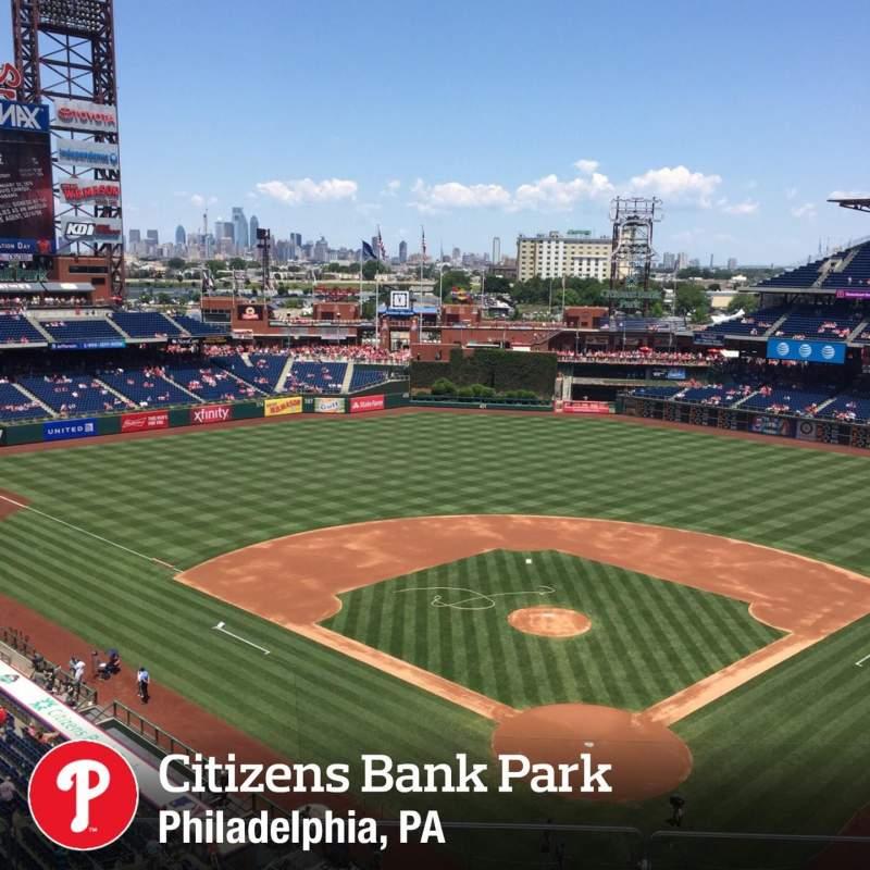 Vistas desde el asiento para Citizens Bank Park Sección 321 Fila 3 Asiento 16
