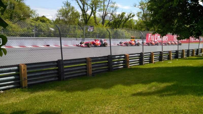 Vistas desde el asiento para Circuit Gilles Villeneuve Sección ga