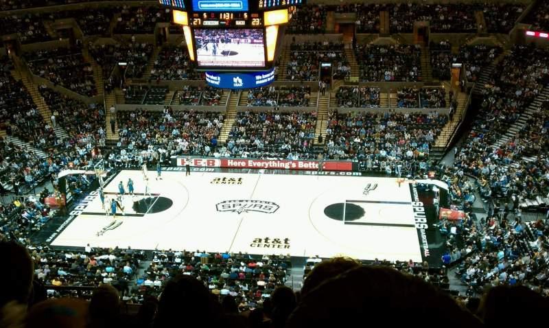 Vistas desde el asiento para AT&T Center Sección 207